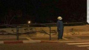 ליצן מפחיד (צילום: דוברות המשטרה)