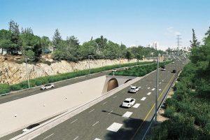 צומת הגבעה הצרפתית (צילום הדמיה: צוות תכנית אב לתחבורה ירושלים)