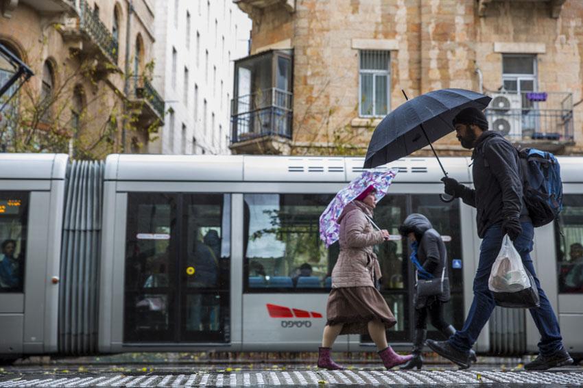 חורף בירושלים (צילום: אוליבייה פיטוסי)