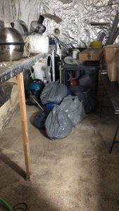 מעבדה לגידול מריחואנה (צילום: דוברות המשטרה)