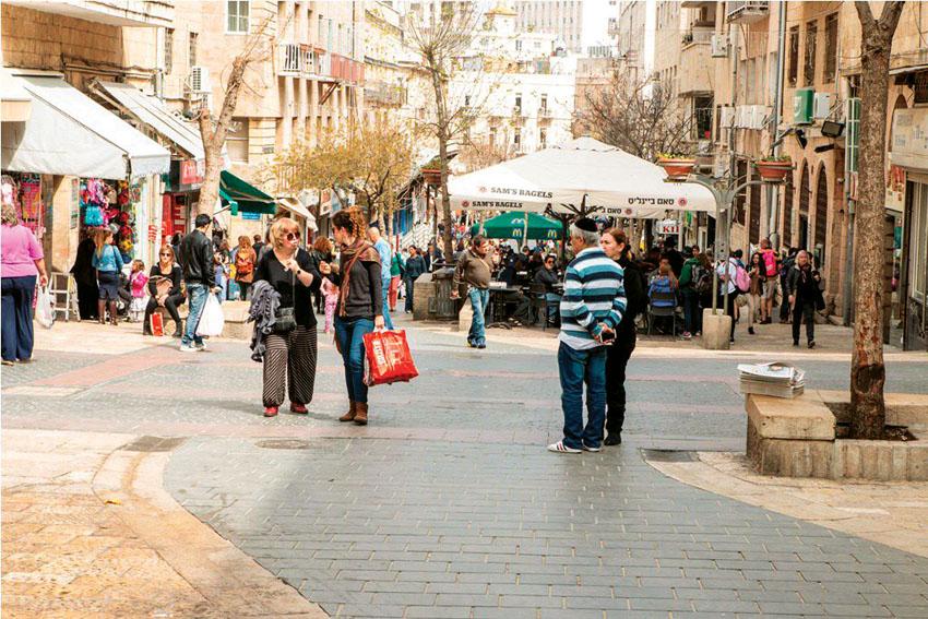 מדרחוב בן יהודה (צילום: סיון גיל)