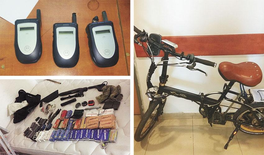 חלק מהרכוש הגנוב שנתפס (צילומים: דוברות המשטרה)