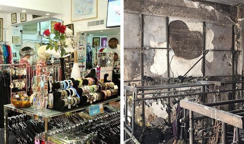 """שריפה בחנות המציאון, החנות לפני השריפה (צילומים: יח""""צ עמותת שק""""ל)"""