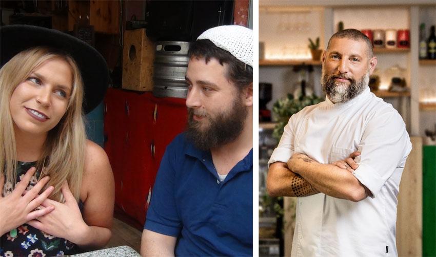 """אסף גרניט, הזוג מיכאל ומיסי ויט (צילומים: מיכה לובטון, הפקת """"מהפכה במטבח"""")"""
