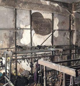 """שריפה בחנות המציאון (צילום: יח""""צ עמותת שק""""ל)"""