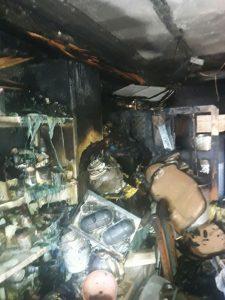 שריפה בבית בשכונת רמות (צילום: כבאות והצלה ירושלים)