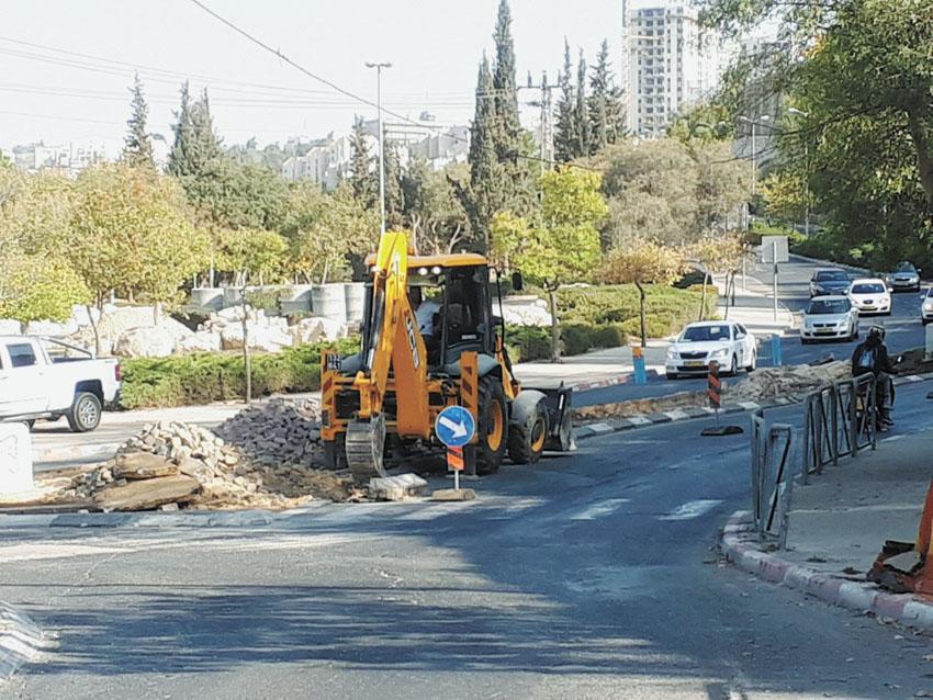 עבודות ברחוב קוליץ (צילום: באדיבות חברת מוריה)