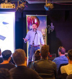 אסף גרניט בכנס ניהול עסקי מזון ובילוי (צילום אסף קרלה)