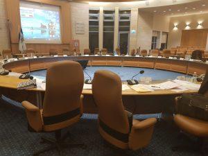 אולם מועצת העירייה ריק, הערב (צילום: דוברות התעוררות)