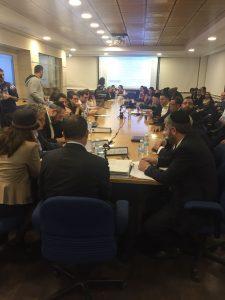 ישיבת מועצת העירייה באולם הקטן (צילום: דוברות התעוררות)