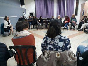 מתוך מפגש התושבים בקרית היובל עם חברת הכנסת רחל עזריה