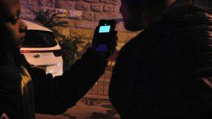 בדיקת ינשוף בסילבסטר בירושלים בשנה שעברה (צילום: דוברות המשטרה)