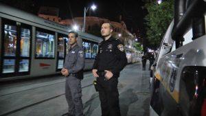 היערכות המשטרה בסילבסטר בירושלים בשנה שעברה (צילום: דוברות המשטרה)