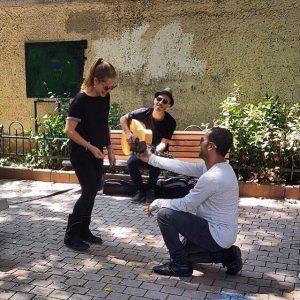 הצעת הנישואין לשירי עם נתן גושן (צילום: פרטי)