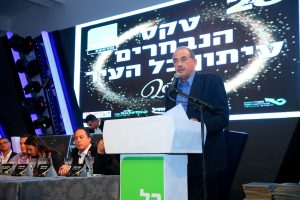 """יוסי חביליו, בטקס הנבחרים ה-28 של """"כל העיר"""" ירושלים (צילום: ארנון בוסאני)"""