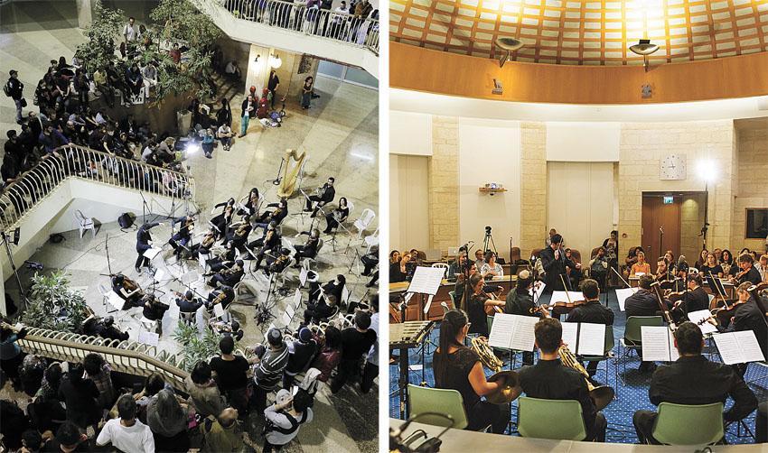 מופעים קודמים של תזמורת הרחוב הירושלמית (צילומים: ילנה קווטני, אריק פוטרמן)