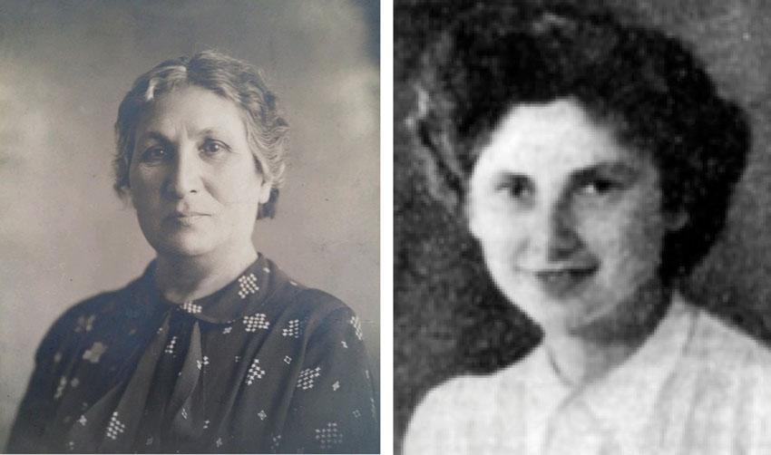 """(מימין) הלוחמת אסתר ציילינגולד ז""""ל, שרה עזריהו ז""""ל (צילומים: מתוך אתר יזכור, מתוך ויקיפדיה)"""