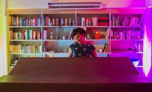 ספריה בלילה, קטמון (צילום: אבי סימן-טוב)