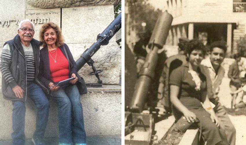 (מימין) אשר ועליזה חן 1958, הזוג היום (צילום: באדיבות המשפחה)
