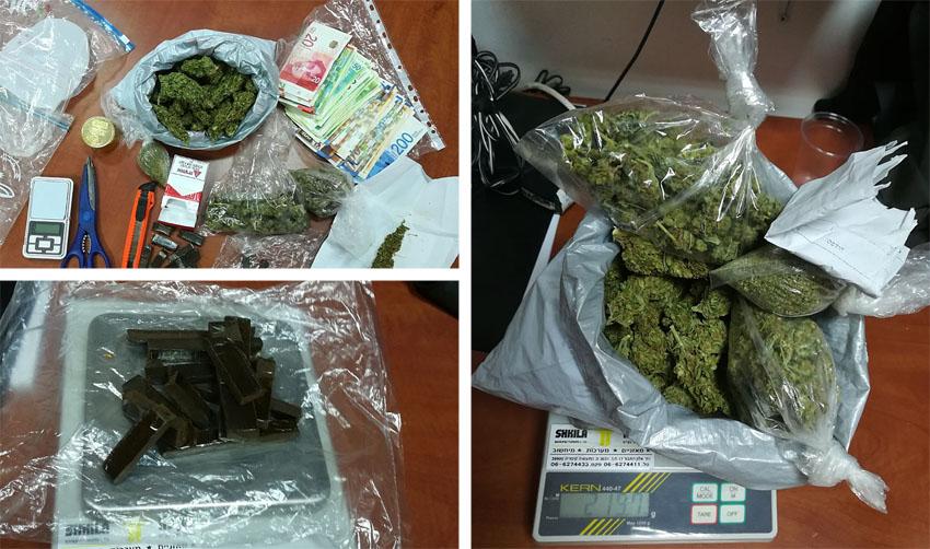 סמים שנתפסו דרך אפליקציית טלגראס (צילומים: דוברות המשטרה)