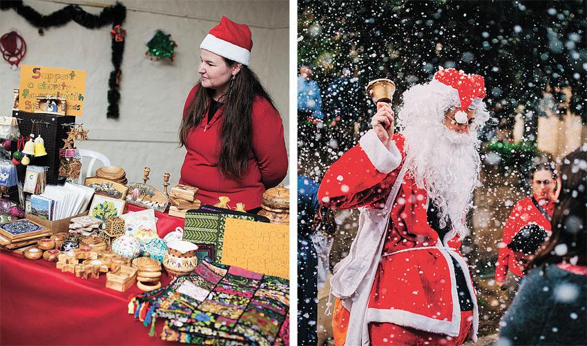"""מתוך בזאר חג המולד בירושלים בשנה שעברה (צילום: יח""""צ)"""