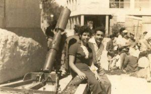 אשר ועליזה חן, כיכר הדוידקה, 1958 (צילום: באדיבות המשפחה)