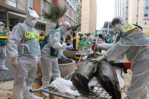 תרגיל בהדסה לטיפול באירוע רב נפגעים עם חומר רדיולוגי (צילום: דוברות הדסה)