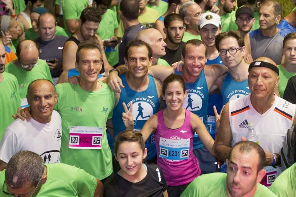 מרוץ לילה ירושלים 2016 - רותי זינדל-אוכמן וחברים (צילום: פרטי)