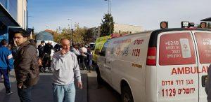 """זירת הפיגוע סמוך לתחנה המרכזית (צילום: מד""""א)"""