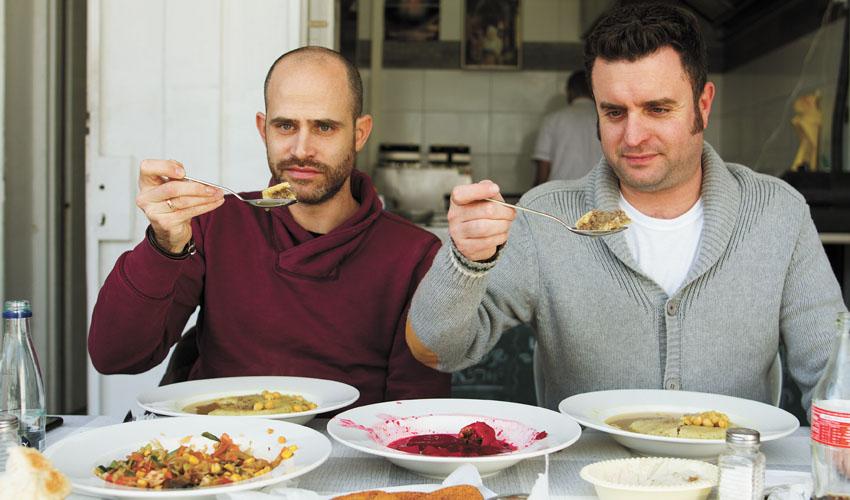יהונתן כהן ועמית אהרנסון, בית הקובה הכורדי (צילום: אסף קרלה)