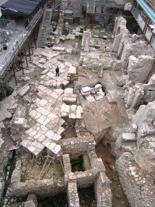 אתר החפירות בכותל המערבי (צילום: שלומית וקסלר-בדולח, רשות העתיקות)