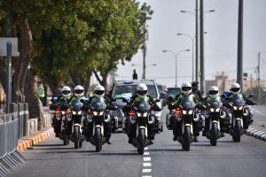 """מתוך ביקור נשיא ארה""""ב בירושלים (צילום: דוברות המשטרה)"""