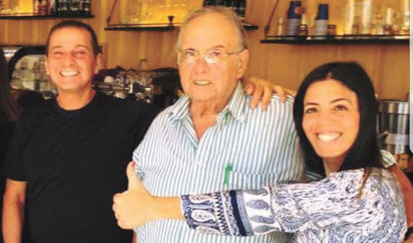 גליה ודני אביחיל עם שלומי דניאל (צילום: פרטי)