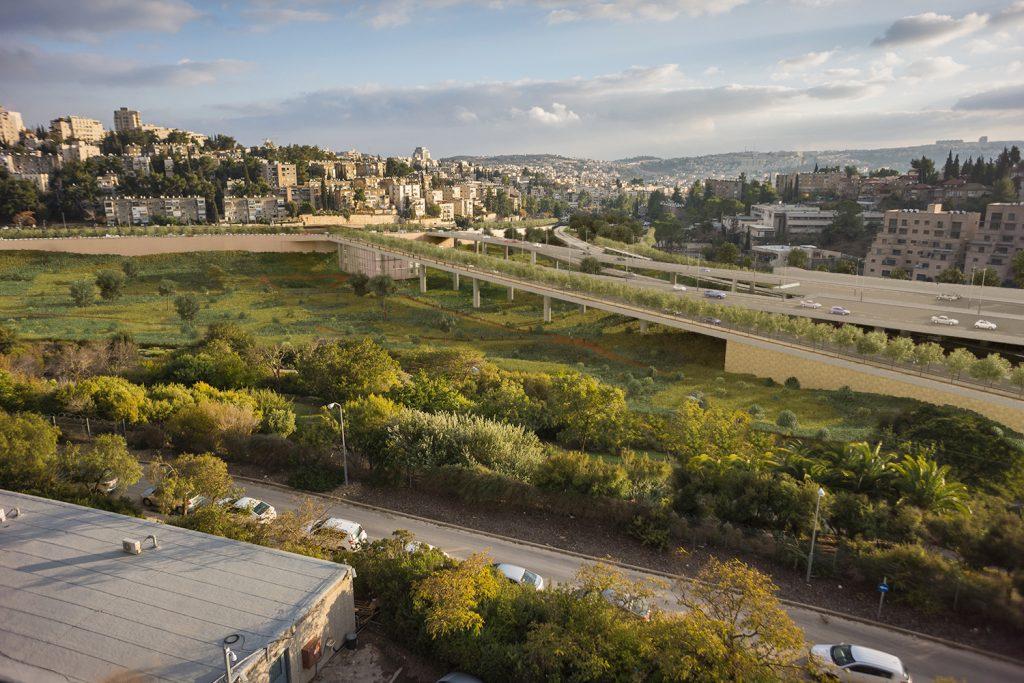 כביש הכניסה החדש של ירושלים (הדמיה: קולקל קולקר אפשטיין אדריכלים)