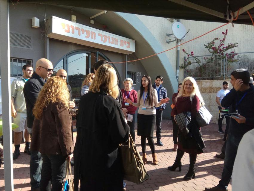 ועדת עיר הנוער של ישראל בביקור במעלה אדומים (צילום: עיריית מעלה אדומים)