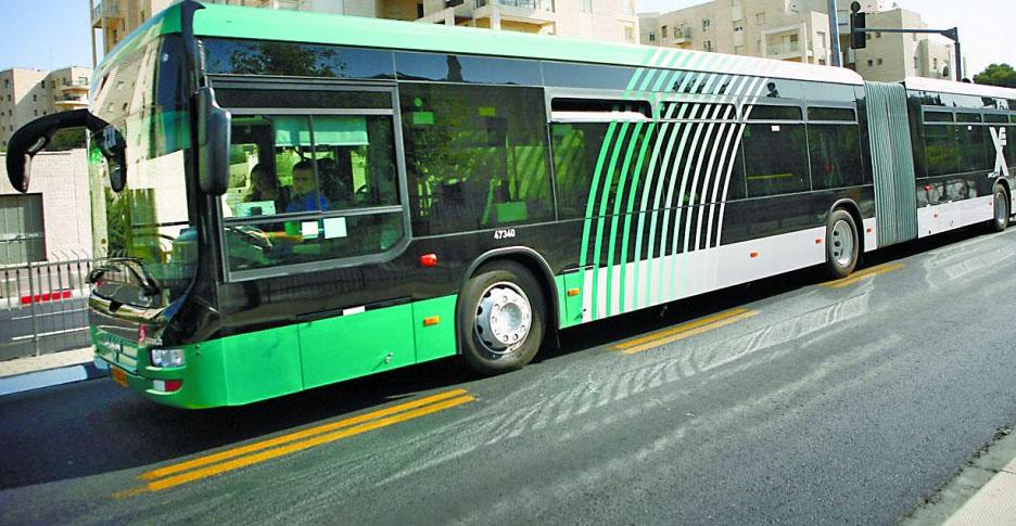 קו אוטובוס מהיר (צילום: מיכל פתאל)