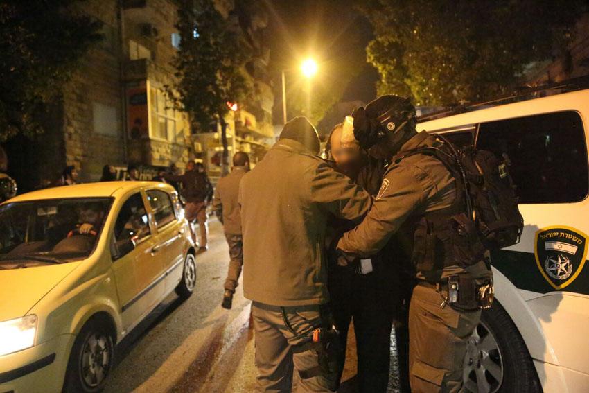 מעצרים חרדים (צילום: חיים גולדברג)