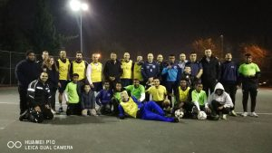 משחק הכדורגל שנערך בין השוטרים לבין בני הנוער בקרית מנחם (צילום: דוברות המשטרה)