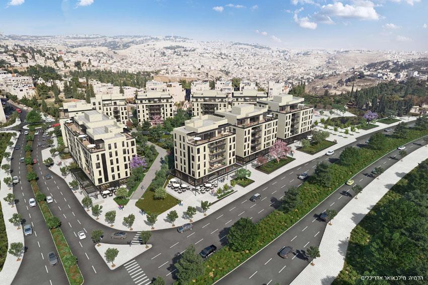 פרויקט דירה להשכיר במתחם אלנבי ארנונה (הדמיה: מילבאואר אדריכלים)