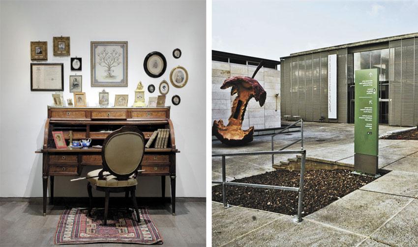 מוזיאון ישראל, שולחן הכתיבה של היינרך היינה (צילומים: תומר אפלבאום, אלי פוזנר מוזיאון ישראל ירושלים)