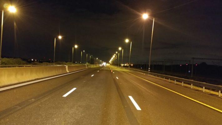 כביש 1 קטע הכביש המוביל לשער הגיא (צילום: דוברות משרד התחבורה)