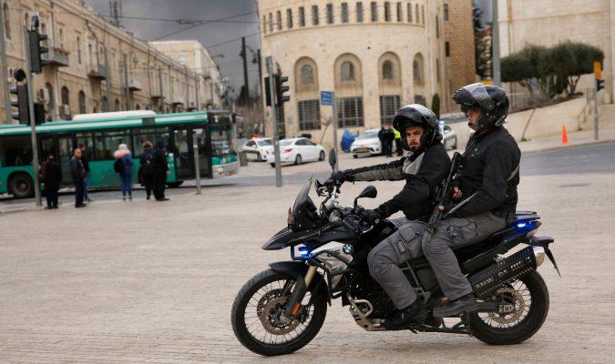 היערכות משטרתית לסופת החורף (צילום: דוברות המשטרה)