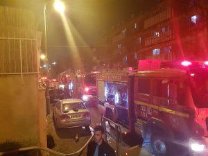השריפה בבר יוחאי (צילום: דוברות כבאות והצלה ירושלים)