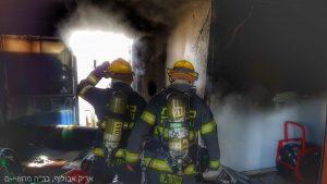 שריפה בדירה בארמון הנציב (צילום: אריק אבולוף, כבאות והצלה ירושלים)