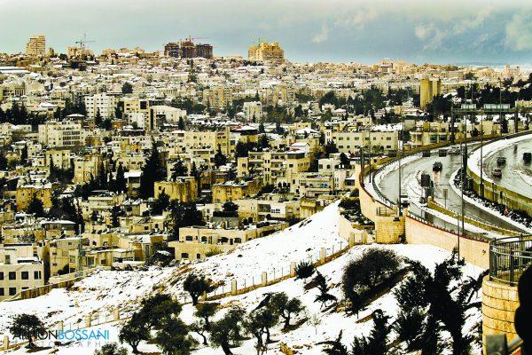 סופת השלג בירושלים 2013 (צילום: ארנון בוסאני)