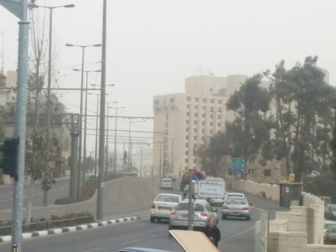 אובך בירושלים (צילום: אלון סין משה)