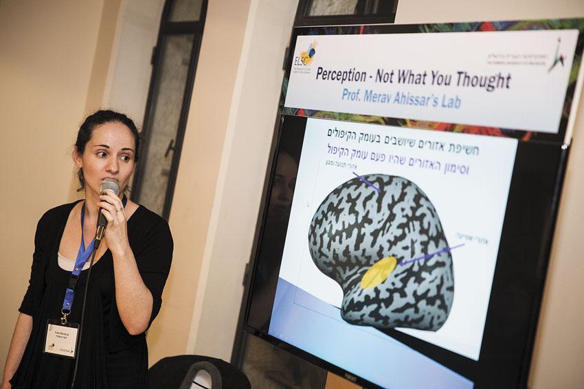 מתוך אירועי שבוע האמנות והמוח בשנה שעברה (צילום: ברונו שביט)