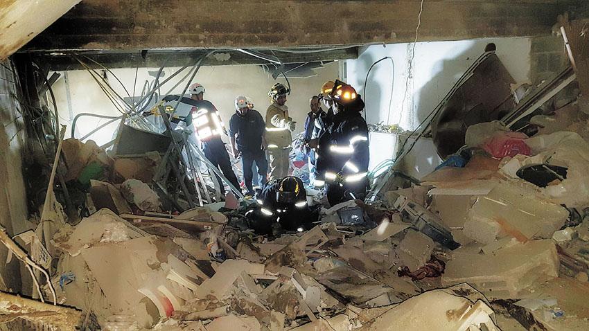 זירת פיצוץ הגז בשכונת בקעה (צילום: דוברות כבאות והצלה מחוז ירושלים)