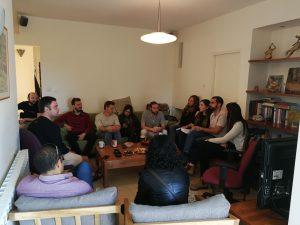 חוג הבית שנערך ביום שישי שעבר בנושא הקמת הבר-קפה השיתופי בבית הכרם