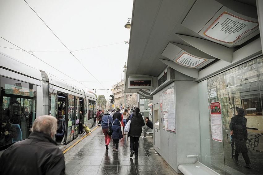 פרויקט 'שירכבת' בתחנות הרכבת בעיר (צילום: נועם מושקוביץ)